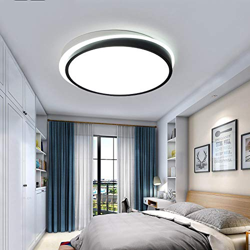 WFSDKN plafondlamp Modern Bedroom Ceiling Lights White and Black Boby Color voor 8-15square meter lampen Ceiling Lighting Fixtures Remote