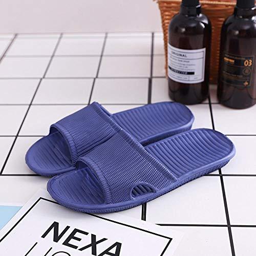 B/H ChanclasdeMasaje,Sandalias para el hogar, Zapatillas de baño Antideslizantes-A Azul_42.43,Zapatillasdemasajeinteriores