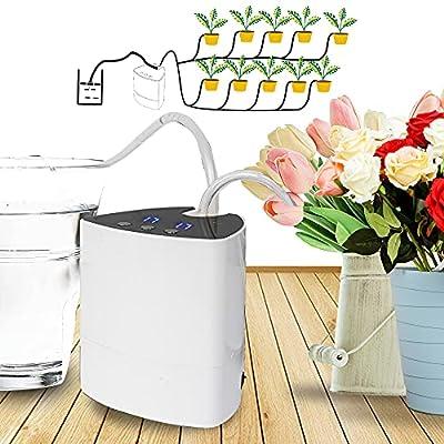 Hourleey Automatic Watering System, Indoor Plant Self Watering System Automatic Drip Irrigation Kit