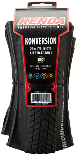 Kenda Prem Konversion DTC Folding - Cubierta para bicicleta plegable (Size 20...