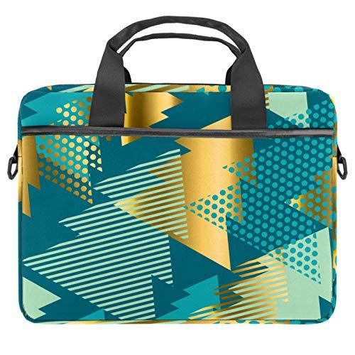 Geométricos árboles bolsa de mensajero bolso delgado maletín con bandolera bandolera bolsa de ordenador y tableta para 13.4-14.5 pulgadas