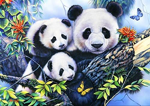 Legpuzzel Voor Volwassenen 1500 Stukjes, Schattige Panda Family, 1500/1000/500 Stukjes, Brain Challenge Jigsaw Puzzle Games