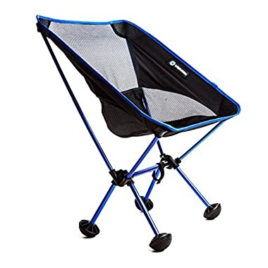Terralite Portable Camp Chair. Perfect For Camping, Beach, Backpacking, Hiking & Outdoor Festivals. Compact & Heavy Duty (Supports 350 lbs). Includes TerraGrip Feet- Won't Sink in the Sand or Mud