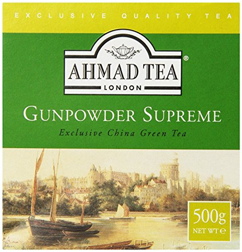 Ahmad Tea Loose Leaf Green Tea, Gunpowder, 17.64 Ounce