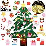 Fascigirl Árbol de Navidad de Fieltro, 39 Inch DIY Navidad Decoración los Ornamentos Desmontables...