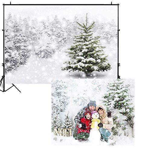 Allenjoy® - Fondo de Navidad natural para fotografía de Navidad de 7 x 5 pies, color blanco