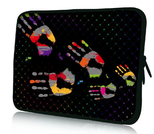 Luxburg® Design Funda blanda para ordenador portátil (15,6pulgadas, motivo: Huellas de Mano