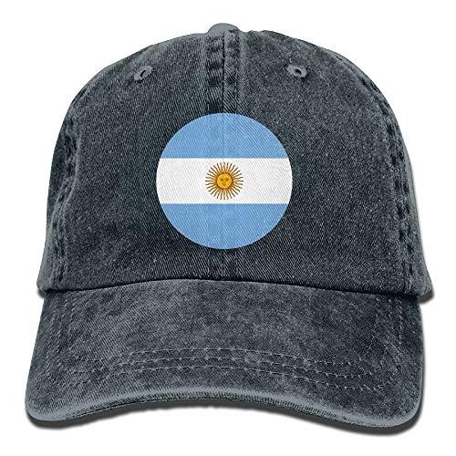 Wdskbg Argentina Falg Circle Gorras de béisbol Ajustables Denim Sombreros Deporte Multicolor98 al Aire Libre