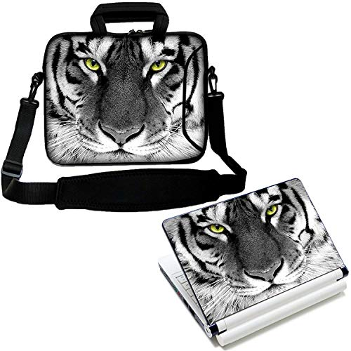 LUXBURG 12' Inches Laptop Notebook Sleeve Soft Case Bag With Handle and Shoulder Strap Plus Free Laptop Skin Vinyl Decal! For Apple, Acer, Asus, Chromebook, Dell, HP, Lenovo, Sony, Toshiba Laptops