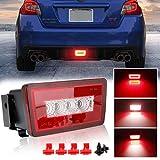 3-In-1 LED Rear Bumper Fog Light Kit Stop Brake Backup Reverse Running Tail...