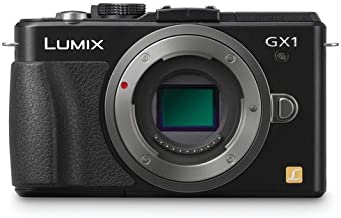 Panasonic Lumix DMC-GX1 16 MP Micro 4/3 Compact System Camera with 3-Inch LCD Touch Screen Body Only (Black) + 4GB SDHC Card