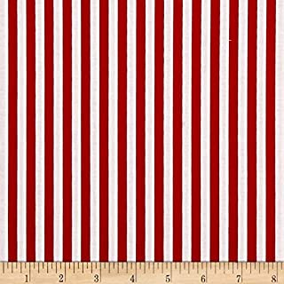 Riley Blake Designs Riley Blake 1/4in Stripes Red Fabric by The Yard