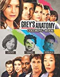 Grey's Anatomy Coloring Book: Dots Lines Spirals Portraits For Actors Of The funniest TV show. A Stress Relief Coloring Book For Adults