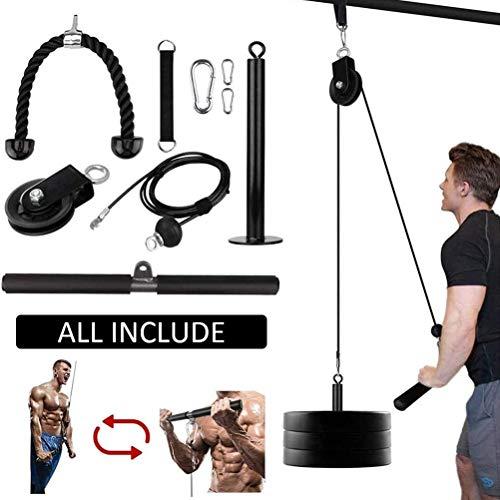 Fitness-Riemenscheiben-Kabelsystem,Riemenscheiben-Kabelsystem Maschine DIY Fitness-Ausrüstung für Unterarm Muskelkrafttraining und Heben Seilzug System Home Fitness