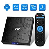 Android 9.0 TV BOX, Android Box con telecomando,Turewell T9 RK3318 Quad Core 64 bit 4 GB RAM 32 GB...