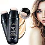 BB Cream, corrector humectante antienvejecimiento con rodillo de desplazamiento para maquillaje facial(Nature Color)