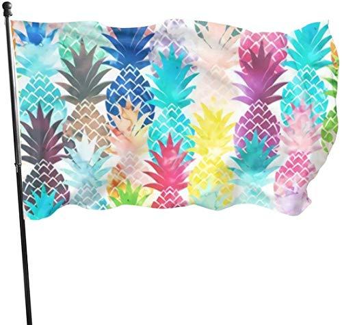 Hawaiianische Tropische Ananas-Dekoration, Garten-Flagge, für den Außenbereich, Kunstfahne für Zuhause, Garten, Hof, Dekoration, 91 x 152 cm
