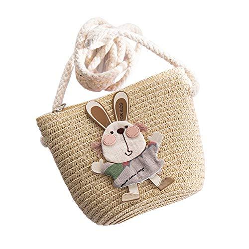 Xinqiao Kids Straw Bag Cross-Body Shoulder Beach Cute Purse Mini Chic Bags...