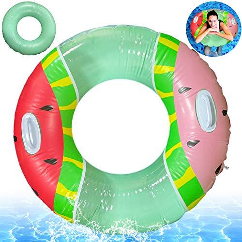 Schwimmring Erwachsene,Watermelon Schwimmring,Aufblasbarer Schwimmreifen,Schwimmreifen Erwachsene,Schwimmring Ring,Schwimmen Float,Aufblasbar Schwimmen Sommer Spielzeug ,Inflatable Swim Pool Float