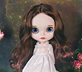 Blythe Doll 1/6, 19 Joints Blythe Muñeca + Maquillaje Cara + Ropa + Ojos de 4 Colores + 9 Pares de Manos