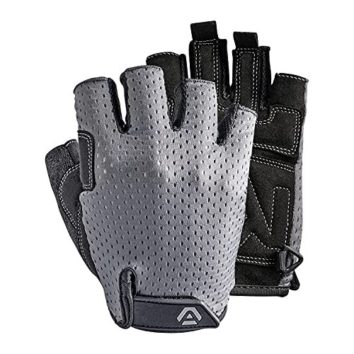 Workout Gloves for Men and Women. Ideal for Gym, Fitness, Exercise and Weight Lifting. Half Finger, Breathable, Light and Comfortable and Suitable for Female Small and Male Larger Sizes (Medium)