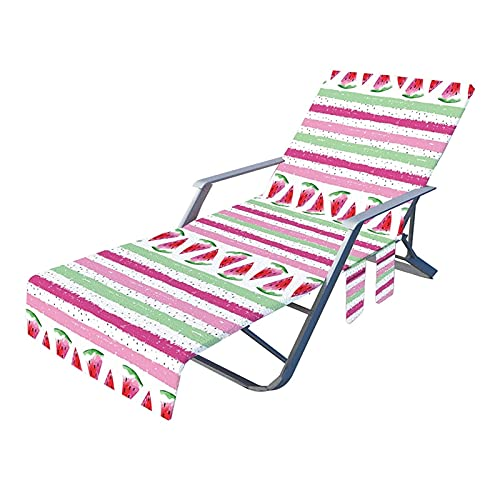 Funda para Silla de Playa Ligero portátil Respaldo reclinable Ajustable Llevar Sillas de Camping Correa Plegable Tumbona Estera de Playa para jardín (Color : H)