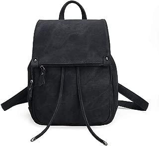 Retro Casual Shoulder Bag Backpack Travel Bag Canvas Handbag, Double Back Portable Single-Shoulder Soft Solid Surface for Travel Out