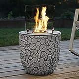 muenkel design Vagos – Chimenea de bioetanol para jardín con quemador redondo de 300 cámaras