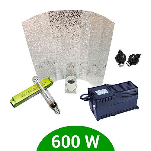 Kit de iluminación 600W SHP Agrolite + Balastro Agrolite clase 2 + Reflector Stuko