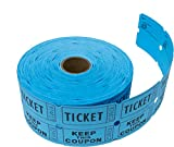 Tacticai 1000 Blue Raffle Tickets (8 Colors Available) for Events, Entry, Class Reward, Fundraiser & Prizes (Double Roll - 2' x 2' Tickets - Keep) - Made in USA