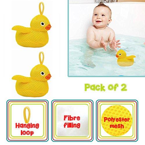 Baby Bad Tijd Wassen Pal - Afgewerkt met een Polyester Gaas en Fibre Vulling (Pack van 2, Eend)