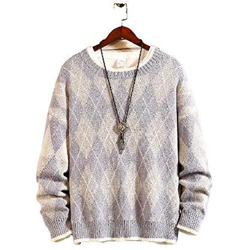 Winter Mode Mannen Trui Streetwear Casual Losse Gebreide Truien Dikke Preppy Stijl O-Hals Trui Mannelijke Kleding