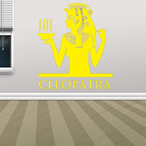 Egipto decoración faraón pirámide esfinge momia pared calcomanía ventana pegatina diseño Removbale hogar dormitorio arte mural pared color-2 57x65cm