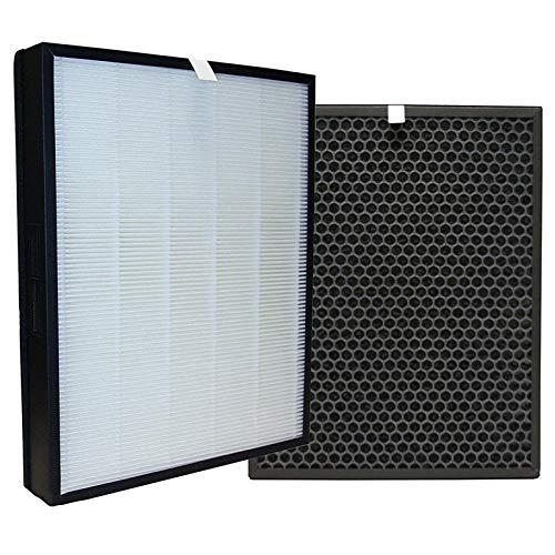 iAmoy Kit de Repuesto de carbón Activado y HEPA Filtro,FY3432/10 y FY3433/10 Filtros,Compatible con Philips AC3256/60,AC3259/10,AC4550/10 purificador de Aire