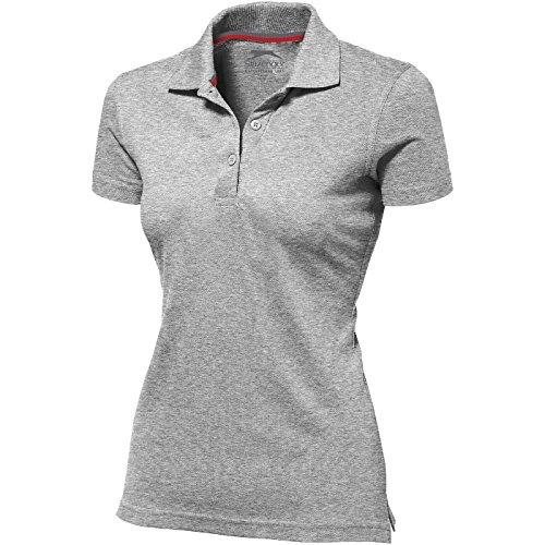 Slazenger Advantage Damen-Poloshirt, kurzärmlig - Grau Meliert, L