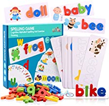 Toyze Sight Words Spelling Games for 3-7 Year Old Kids, ABC Learning Toys for Toddlers Kids Boys Girls Age 3 4 5 6 7 8 Preschool Educational Toys Birthday Gifts for 3-7 Year Old Boys Girls Kids