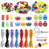 Keadic Multi-Color Spring Toggle Cord Locks End Spring Toggle Stoppers with 7 Colors 21 Yards Elastic Cord, for Drawstrings, Pants Closures, Lanyard, Luggage, Clothing, Backpack, Sportwear