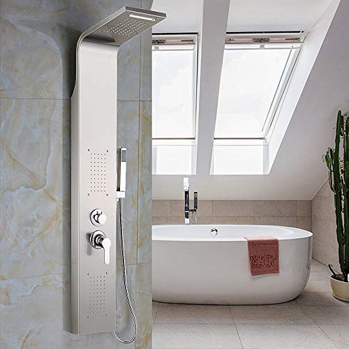 Duschpaneel Duschsäule Edelstahl Regendusche Brausepaneel Massage Duschset Bad