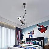 Luz pendiente En Superman Iluminación techo de la forma, creativo LED Sala Infantil de la lámpara, colgantes contemporáneo luz pendiente, por Parvulario Kinder de niños Escalera Decoración