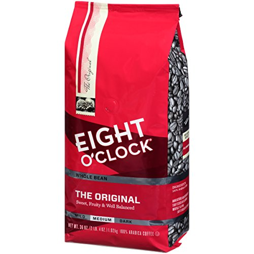 Eight O'Clock Coffee The Original, Medium Roast, Whole Bean Coffee, 36 Ounce (Pack of 1), 100% Arabica, Kosher Certified