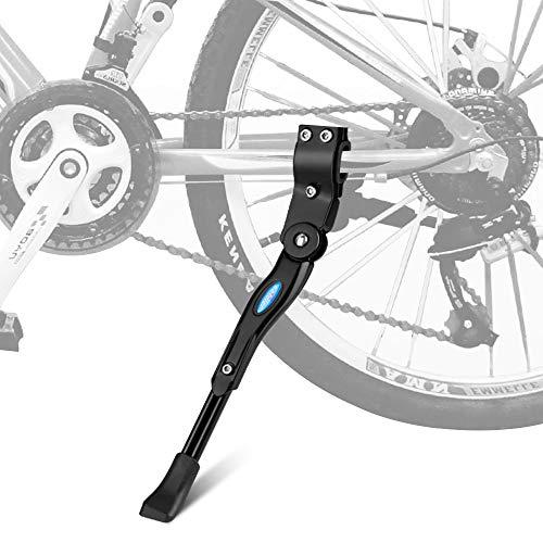 Zingso Fahrradständer, Einstellbarer Universal Hinterbauständer Aluminiumlegierung Fahrrad Ständer Anti-Rutsch Seitenständer Hinterbauständer für 22-28 Zoll Mountainbike/Rennrad/BMX/MTB