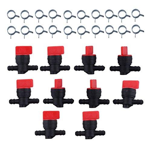 D DOLITY Benzinhahn Zwischenhahn Kraftstoff für Briggs & Stratton Rasentraktor 698181, 697947, 5019H, 5019K usw