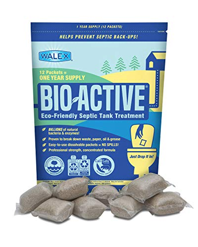 Walex BIO-31112 Bio-Active Drop-Ins Septic Additive, 12...
