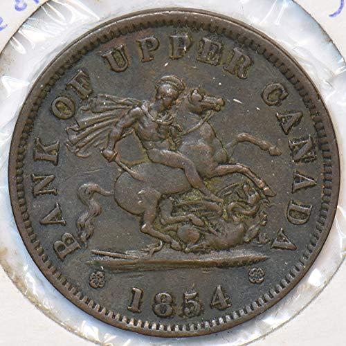 1854 CA Canada 1854 Penny Horse animal Dragon Canadian provinces 296405 DE PO-01