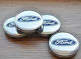 Ford - Juego de 4 tapas centrales de ruedas - 60 mm