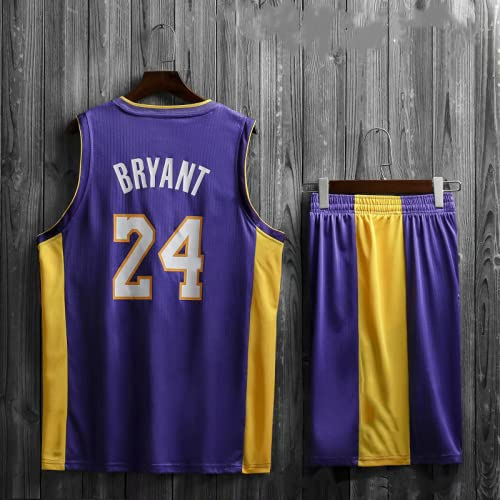 Lakers # 24th Memorial Kobe Bryant Camiseta de baloncesto para adultos Traje Chaleco de baloncesto para hombre + Pantalones cortos Traje Camiseta de baloncesto