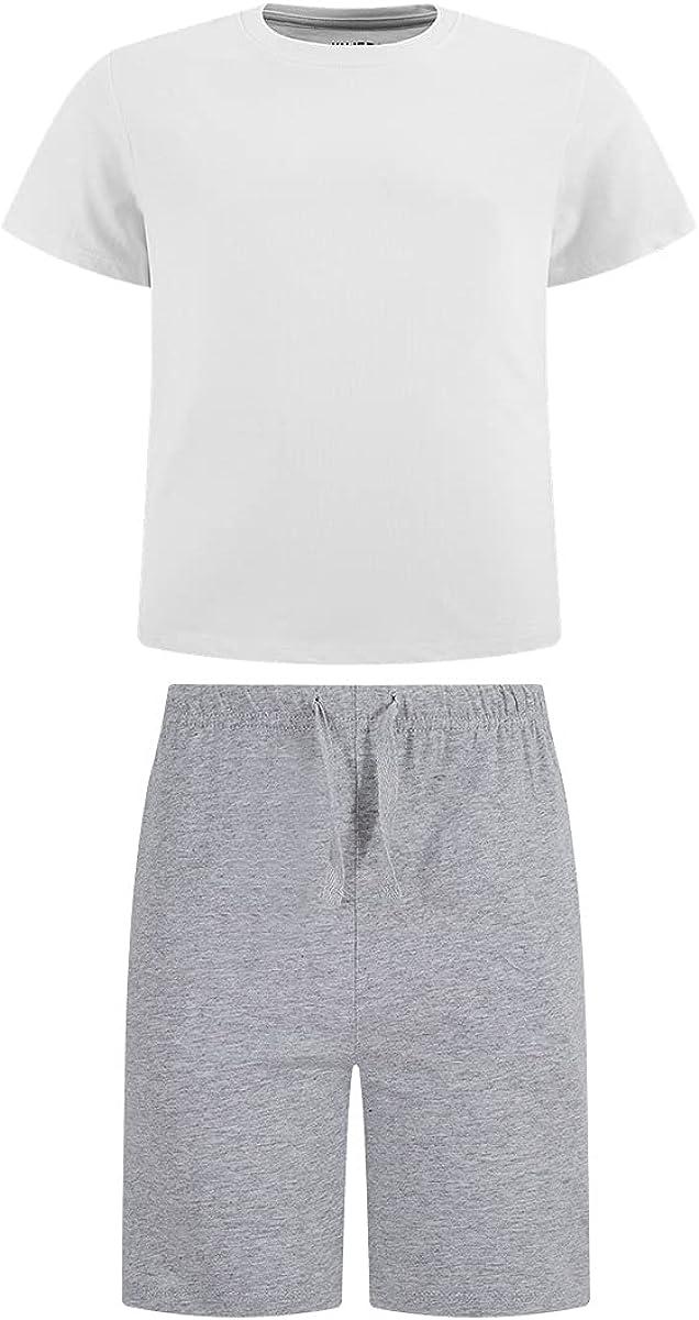Yujerry Unisex Kids' 100% Cotton T-Shirt and Shorts Set