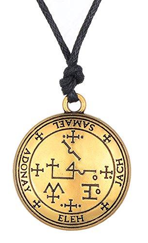 fishhook Schlüssel des Salomons Das Siegel des Erzengels Samael für magische Absichten Halskette