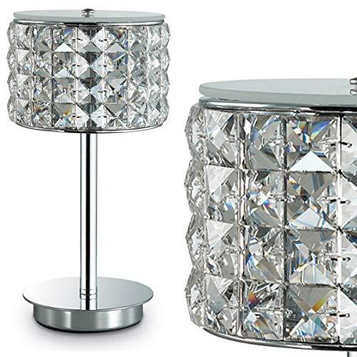 abat jour lampada da comodino per camera da letto cristalli strass stile contemporaneo