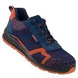 Urgent Scarpe antinfortunistiche con punta in acciaio 232 S1 arancione blu scuro, Multicolore (arancione, blu scuro.), 43 EU